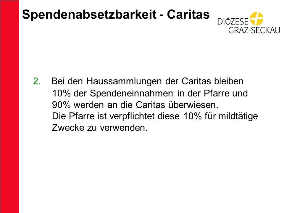 Spendenabsetzbarkeit - Caritas 2.