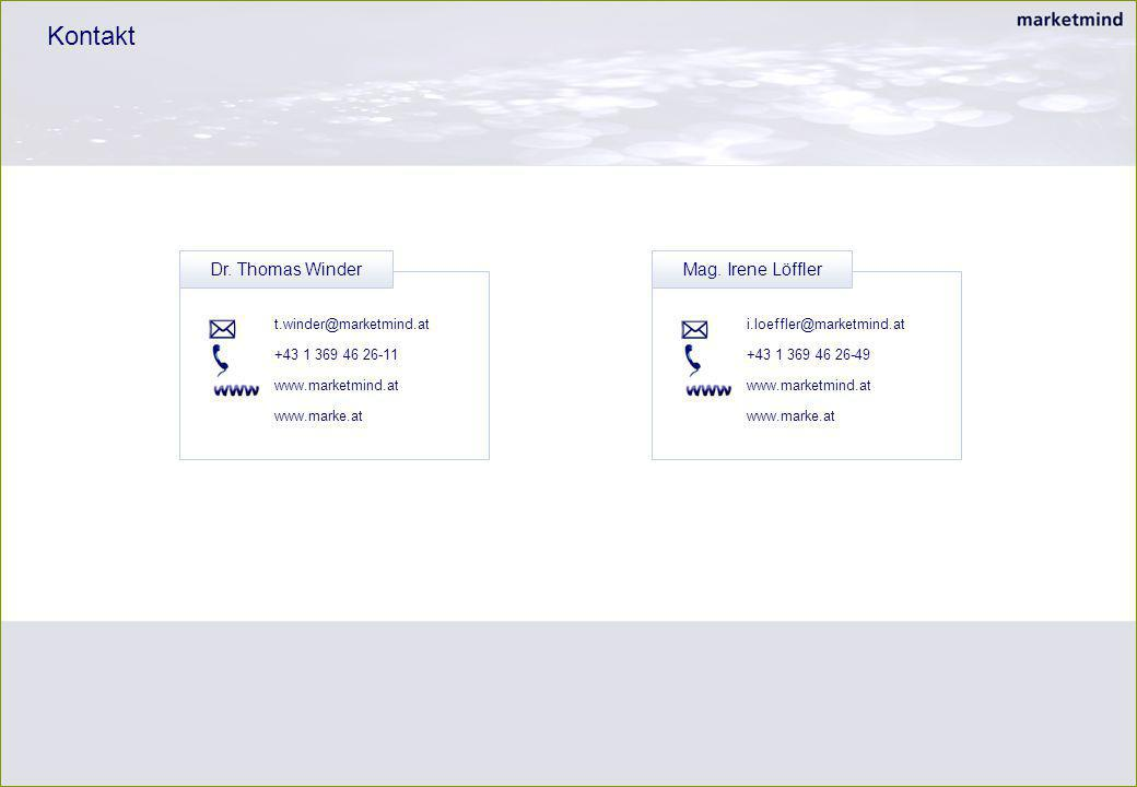 i.loeffler@marketmind.at +43 1 369 46 26-49 www.marketmind.at www.marke.at Kontakt Mag. Irene Löffler t.winder@marketmind.at +43 1 369 46 26-11 www.ma