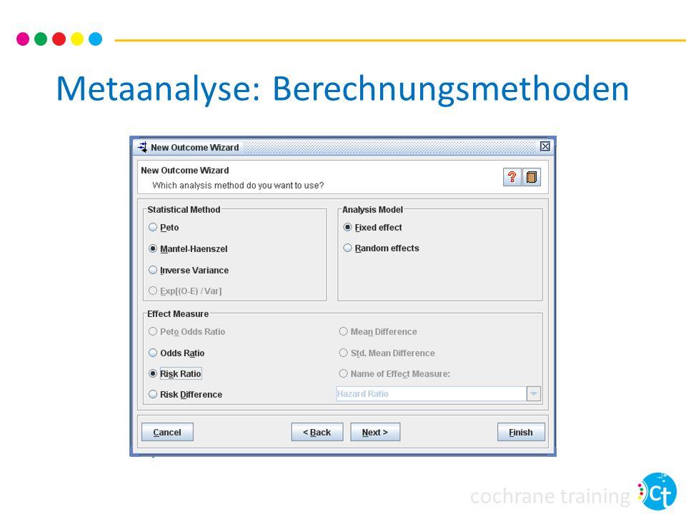 cochrane training Metaanalyse: Berechnungsmethoden