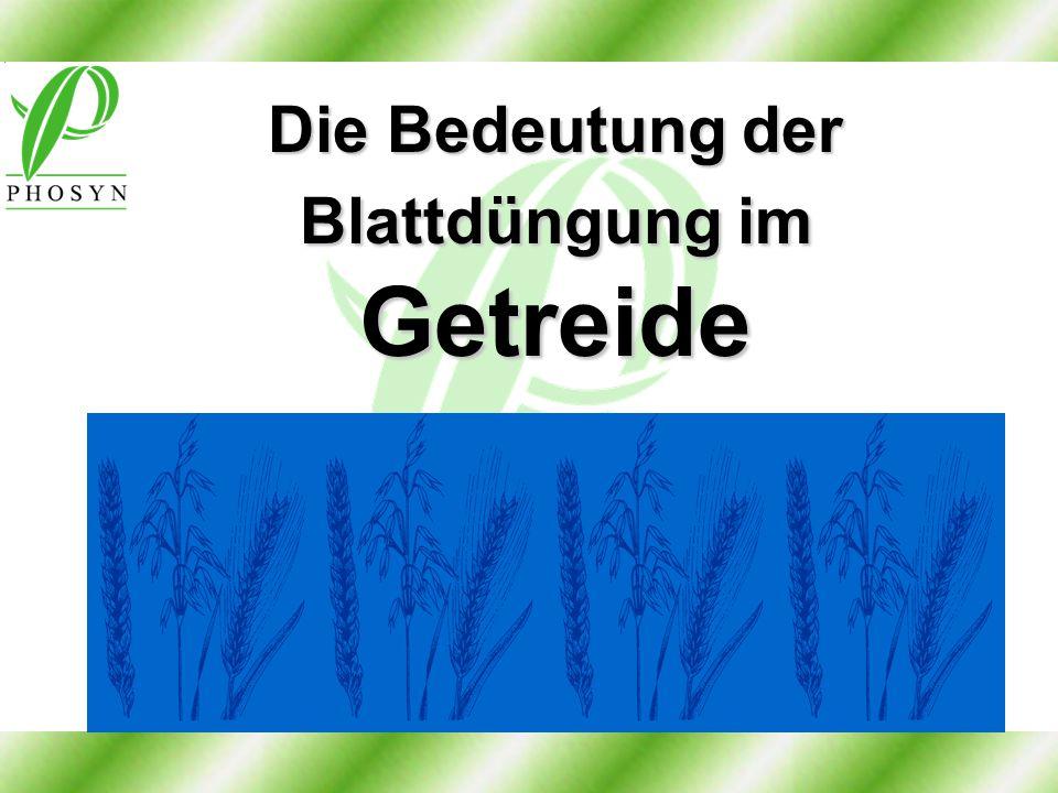 Die Bedeutung der Blattdüngung im Getreide