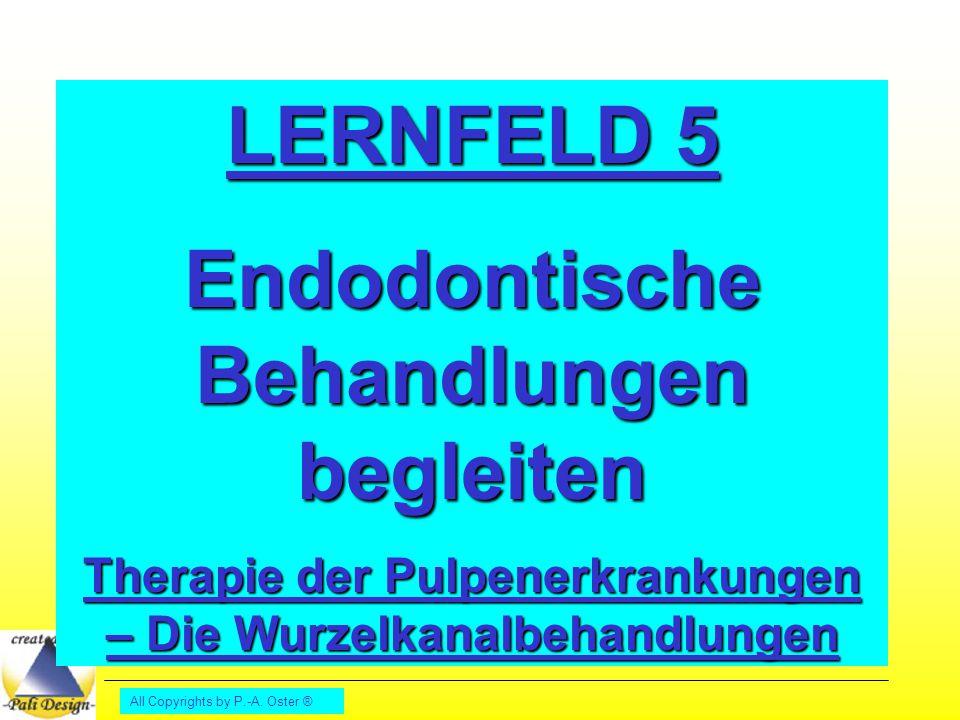 All Copyrights by P.-A. Oster ® LERNFELD 5 Endodontische Behandlungen begleiten Therapie der Pulpenerkrankungen – Die Wurzelkanalbehandlungen