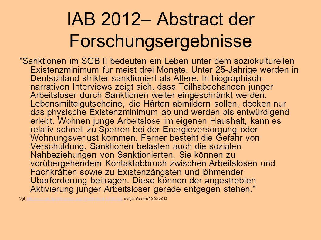 IAB 2012– Abstract der Forschungsergebnisse