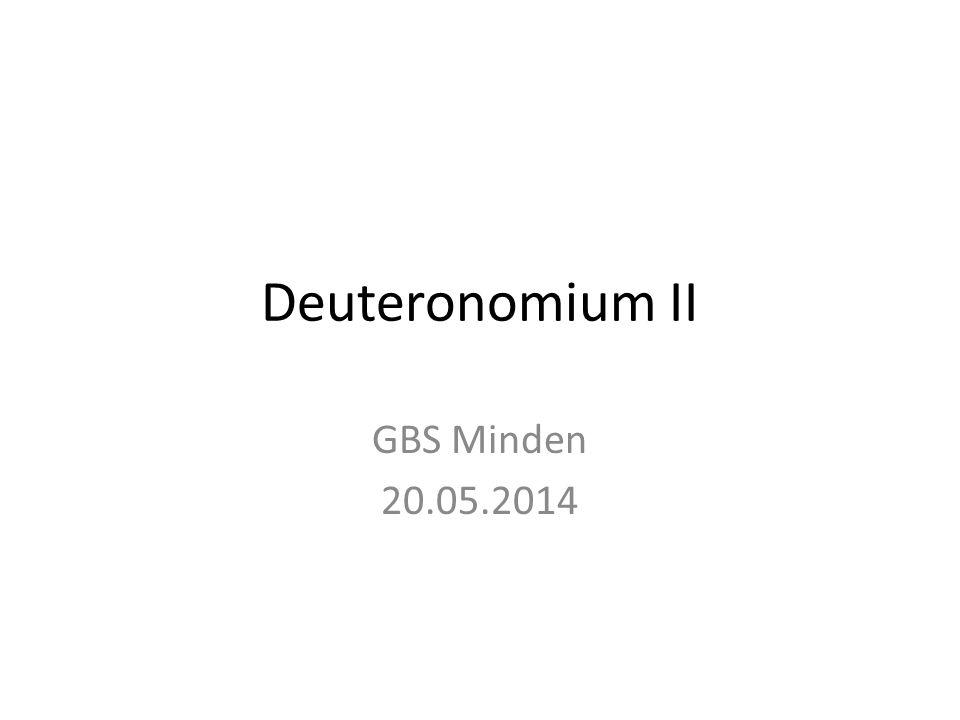 Gliederung von Deuteronomium Kap.Thema UnterthemaKap.