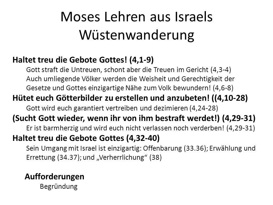 Das jüdische Glaubensbekenntnis (Deut 6,4-5) 4 Höre, Israel: Der HERR ist unser Gott, der HERR allein.