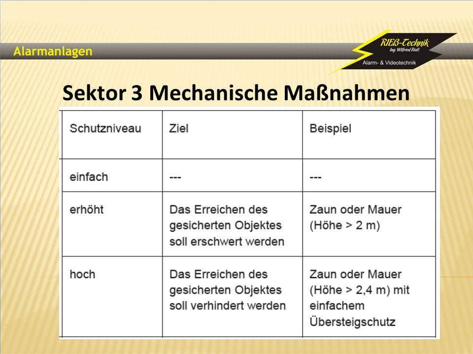Sektor 3 Mechanische Maßnahmen