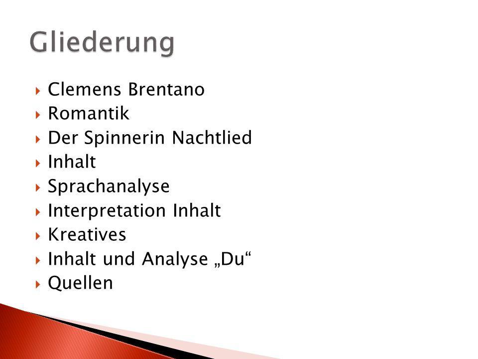  geboren am 8.9.1778 in Ehrenbreitstein  deutscher Schriftsteller  kaufmännische Lehre, Bergwissenschaftenstudium und Medizinstudium abgebrochen  keine Finanziellen Probleme  verbrachte viel Zeit mit Dichtern und Philosophen z.B Goethe  1801: zog er nach Göttingen  Freundschaft mit Achim von Arnim