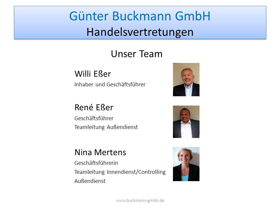 Willi Eßer Inhaber und Geschäftsführer René Eßer Geschäftsführer Teamleitung Außendienst Nina Mertens Geschäftsführerin Teamleitung Innendienst/Contro