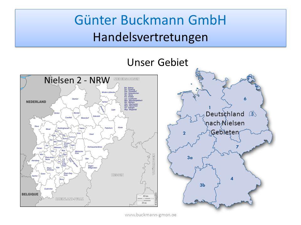 Günter Buckmann GmbH Handelsvertretungen www.buckmann-gmbh.de Deutschland nach Nielsen Gebieten Unser Gebiet Nielsen 2 - NRW