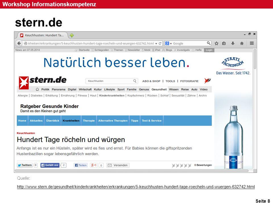 Seite 59 Workshop Informationskompetenz Google Anzeigeneinstellungen (1) Quelle: http://www.google.com/settings/adshttp://www.google.com/settings/ads