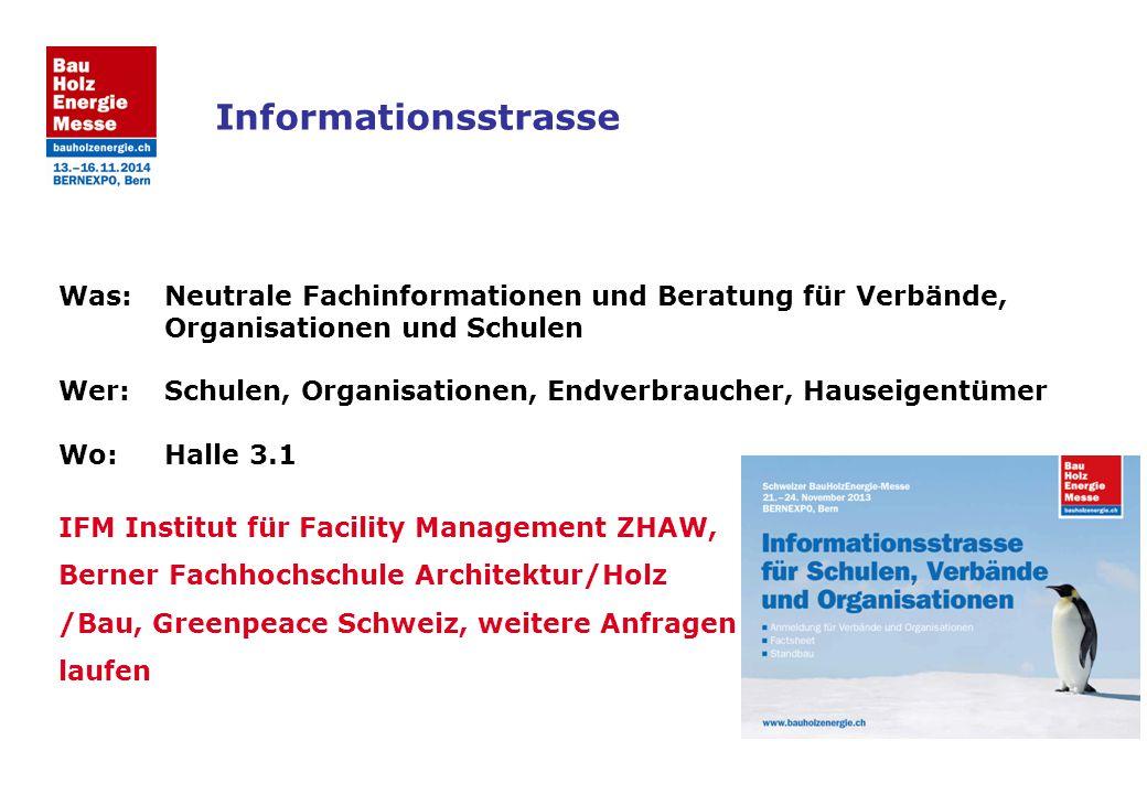Was:Neutrale Fachinformationen und Beratung für Verbände, Organisationen und Schulen Wer:Schulen, Organisationen, Endverbraucher, Hauseigentümer Wo:Ha