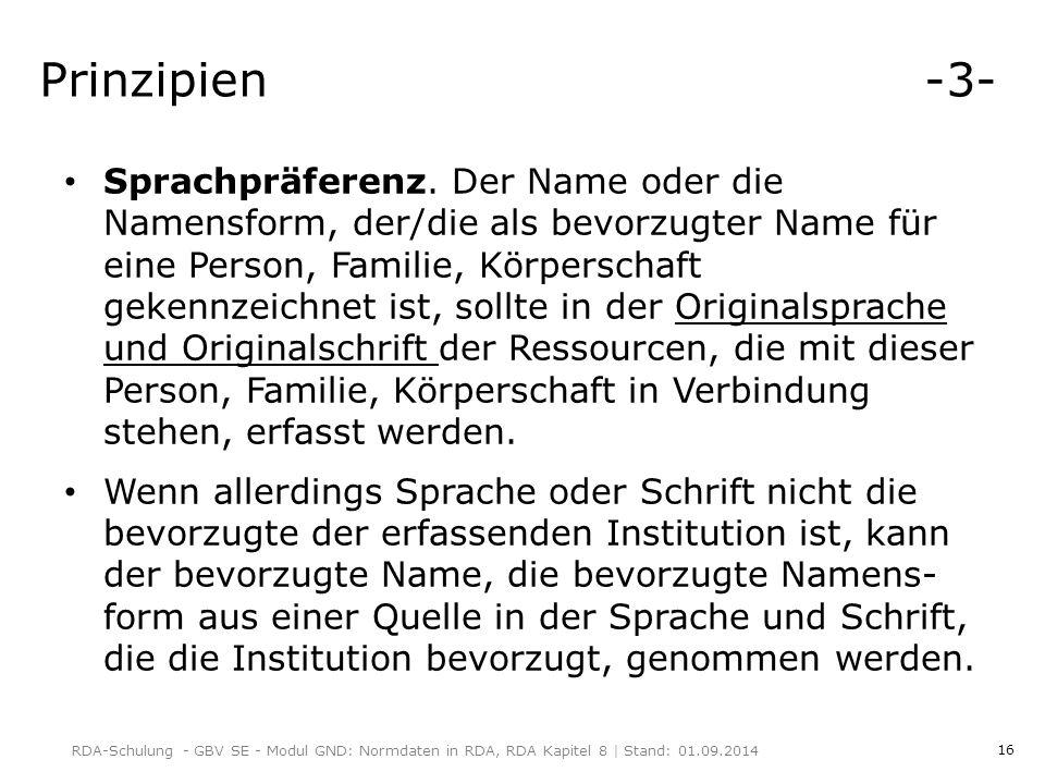 16 Prinzipien -3- Sprachpräferenz.