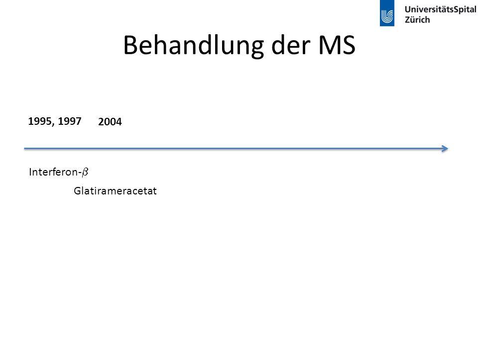 Behandlung der MS Interferon-  Glatirameracetat 1995, 1997 2004