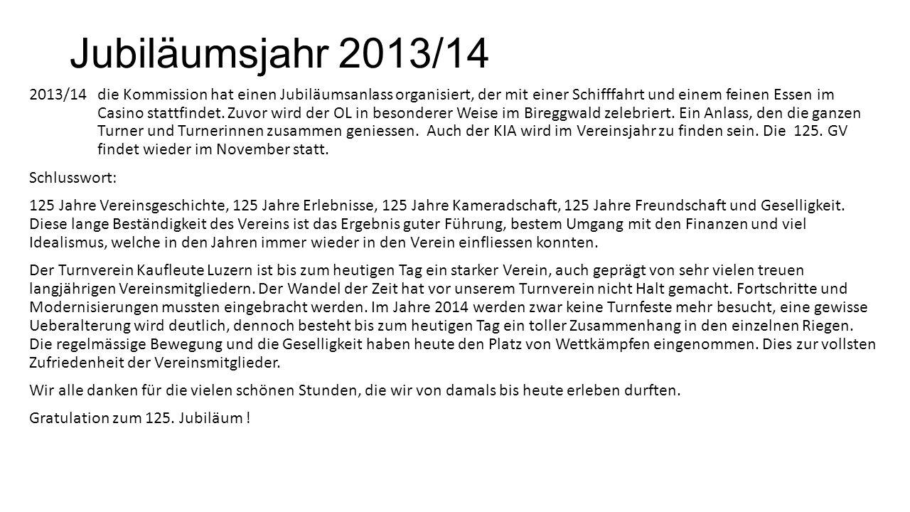 2011/12 8 Mitglieder konnten im Oktober von der Sportkommision Luzern ein Zertifikat für ehrenamtliche Tätigkeit im Sport entgegennehmen. Es hätten si