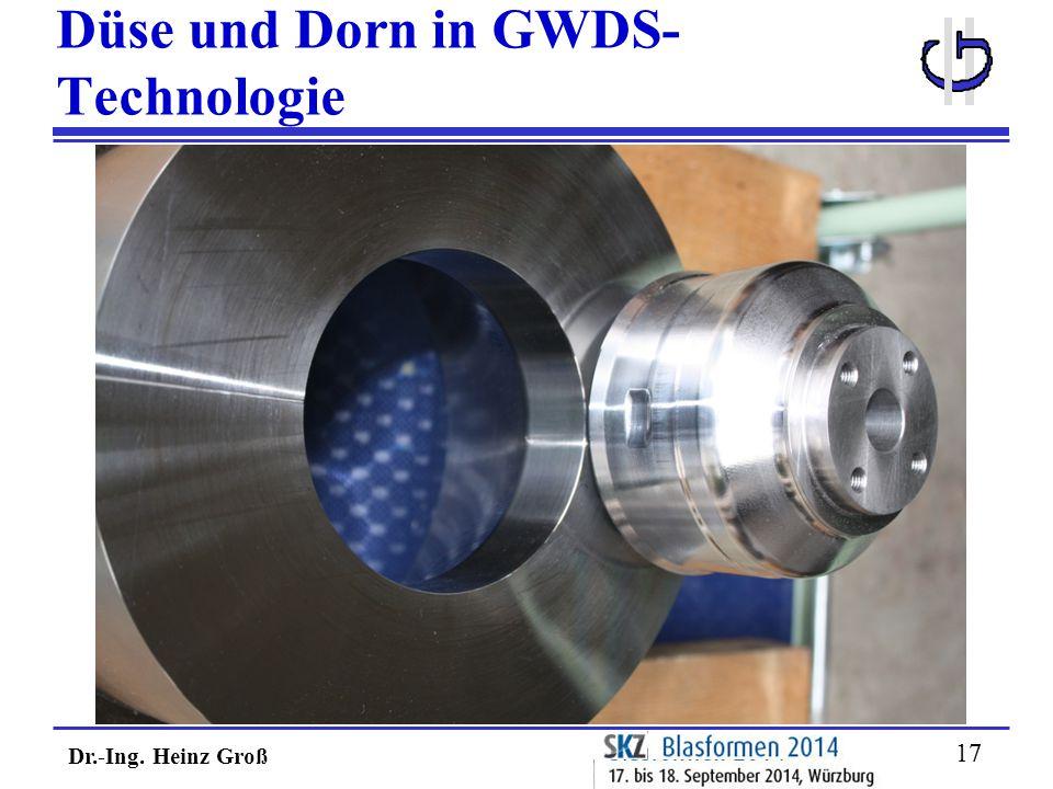 Dr.-Ing. Heinz Groß 17 Düse und Dorn in GWDS- Technologie