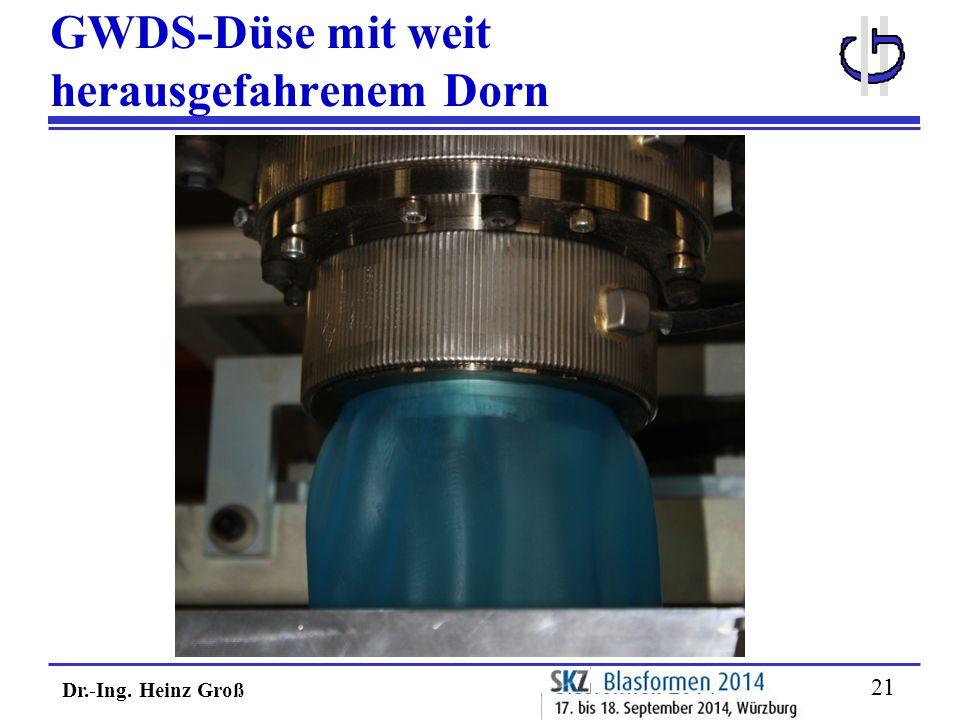 Dr.-Ing. Heinz Groß 21 GWDS-Düse mit weit herausgefahrenem Dorn