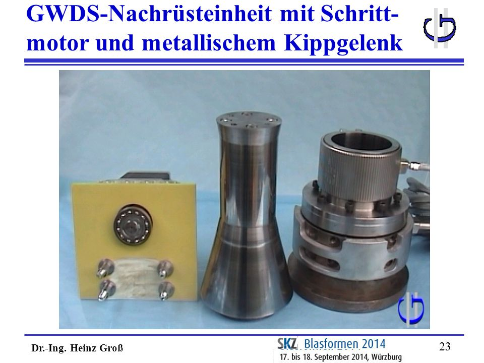 Dr.-Ing. Heinz Groß 23 GWDS-Nachrüsteinheit mit Schritt- motor und metallischem Kippgelenk