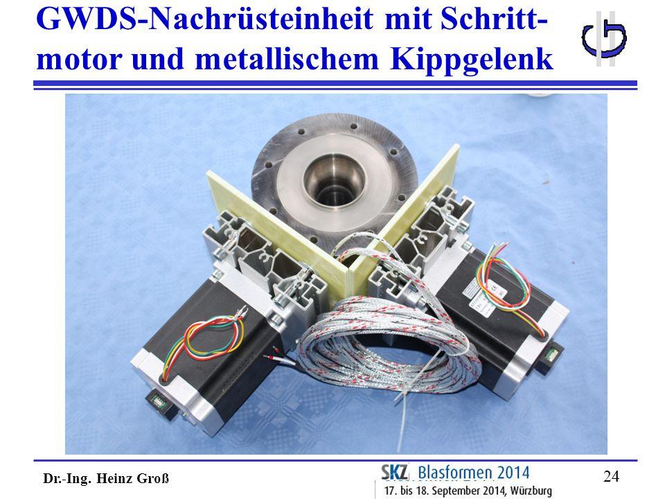 Dr.-Ing. Heinz Groß 24 GWDS-Nachrüsteinheit mit Schritt- motor und metallischem Kippgelenk