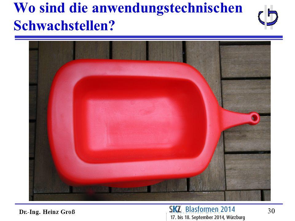 Dr.-Ing. Heinz Groß 30 Wo sind die anwendungstechnischen Schwachstellen?