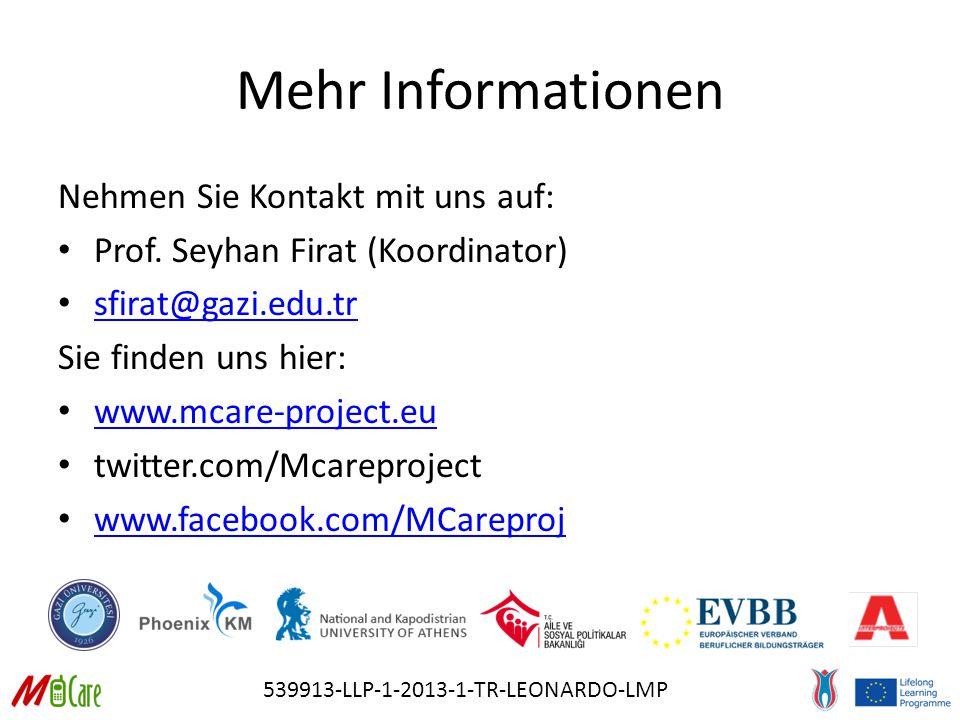 539913-LLP-1-2013-1-TR-LEONARDO-LMP Mehr Informationen Nehmen Sie Kontakt mit uns auf: Prof.