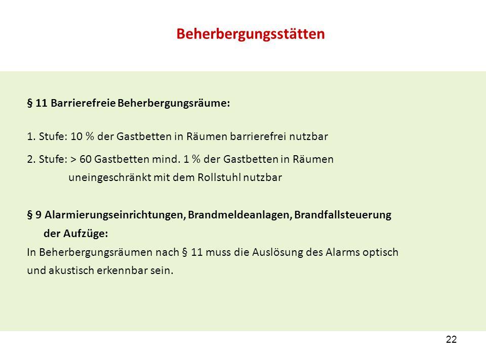 § 11 Barrierefreie Beherbergungsräume: 1.