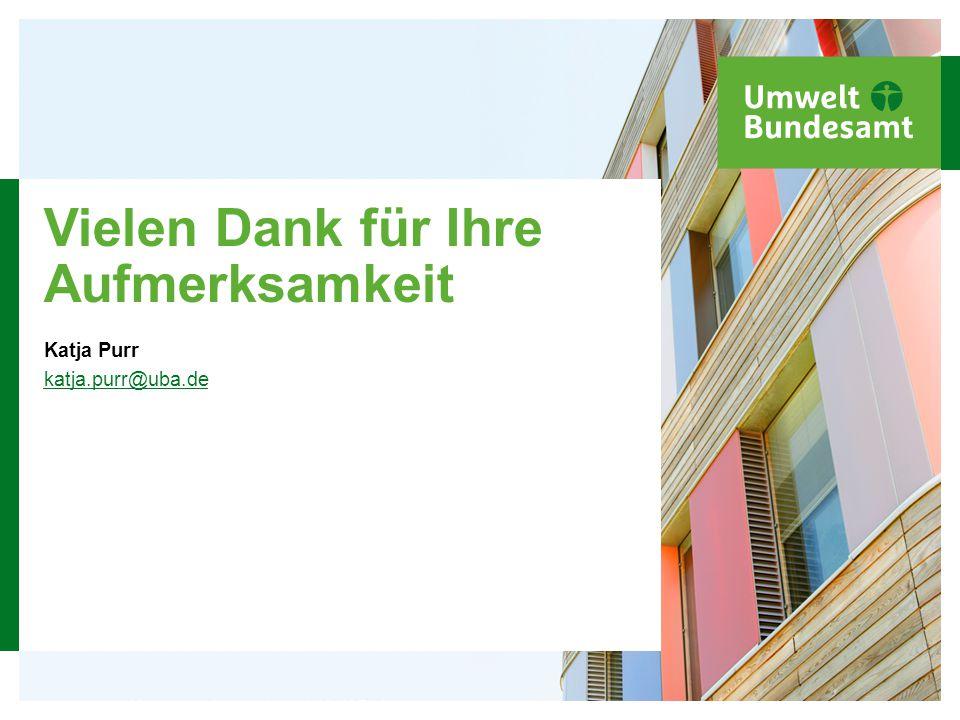 Hier steht der Veranstaltungstitel in 12 Punkt 36 Vielen Dank für Ihre Aufmerksamkeit Katja Purr katja.purr@uba.de