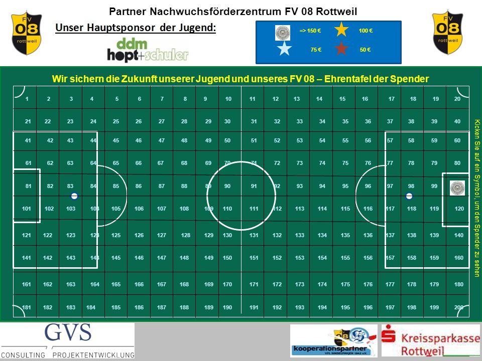 Partner Nachwuchsförderzentrum FV 08 Rottweil zurück Peter Weiss Rottweil Finanzvorstand FV 08