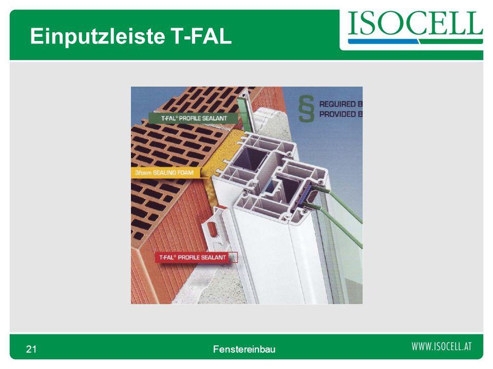 Einputzleiste T-FAL Fenstereinbau21