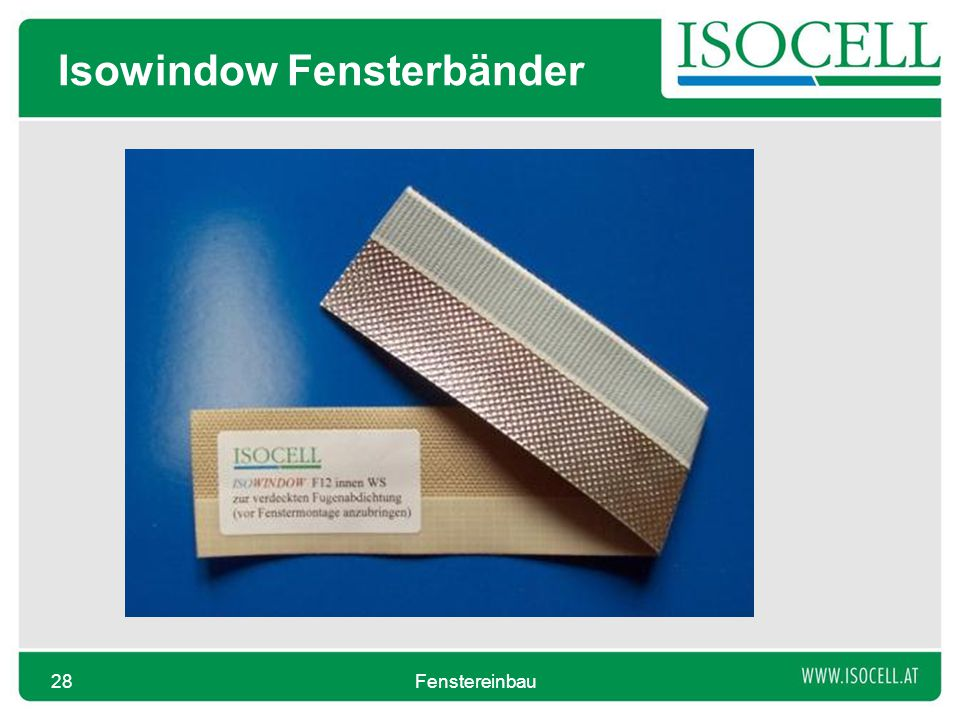 Isowindow Fensterbänder Fenstereinbau28