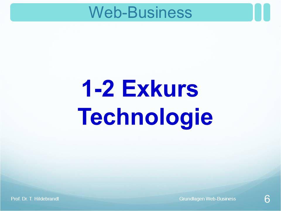 Charakteristika des Internets Neue Qualität der Kommunikation zeitversetzte Kommunikation Akteure mit eigener Verarbeitungskapazität Interaktion unbekannter Partner Reduziert die Entropie drastisch Grundlagen Web-Business 7