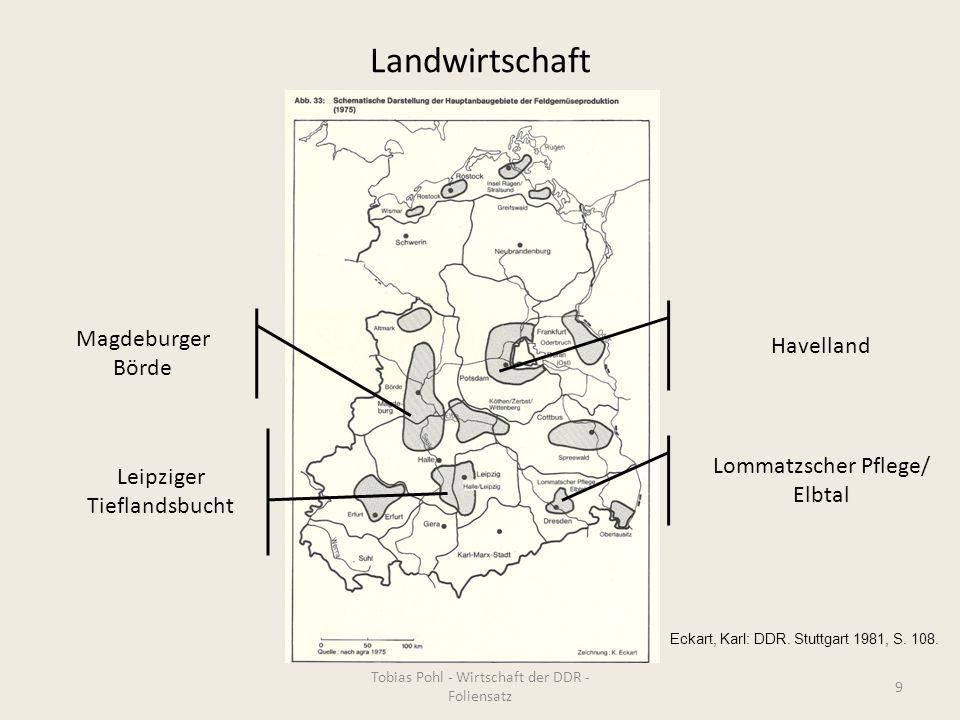 Landwirtschaft Lommatzscher Pflege/ Elbtal Magdeburger Börde Leipziger Tieflandsbucht Havelland Tobias Pohl - Wirtschaft der DDR - Foliensatz 9 Eckart