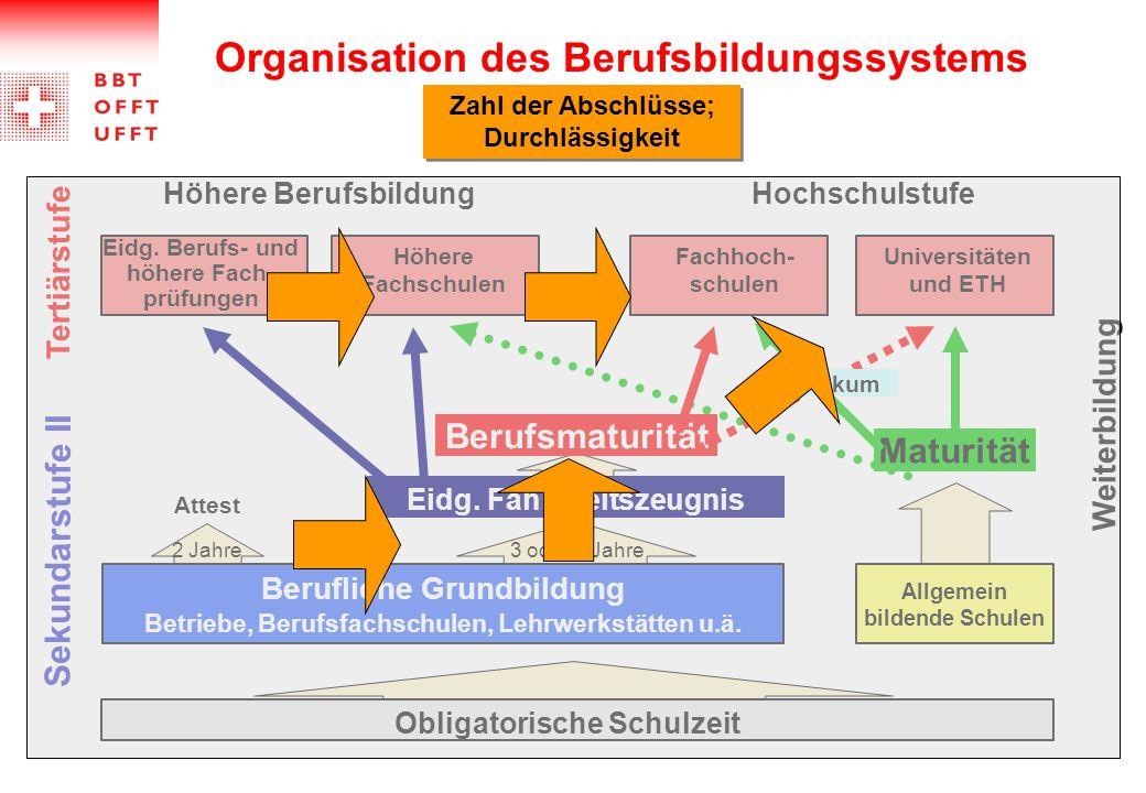 Organisation des Berufsbildungssystems Eidg.
