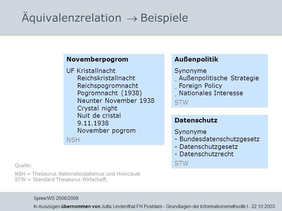 Äquivalenzrelation  Beispiele Novemberpogrom UF Kristallnacht Reichskristallnacht Reichspogromnacht Pogromnacht (1938) Neunter November 1938 Crystal