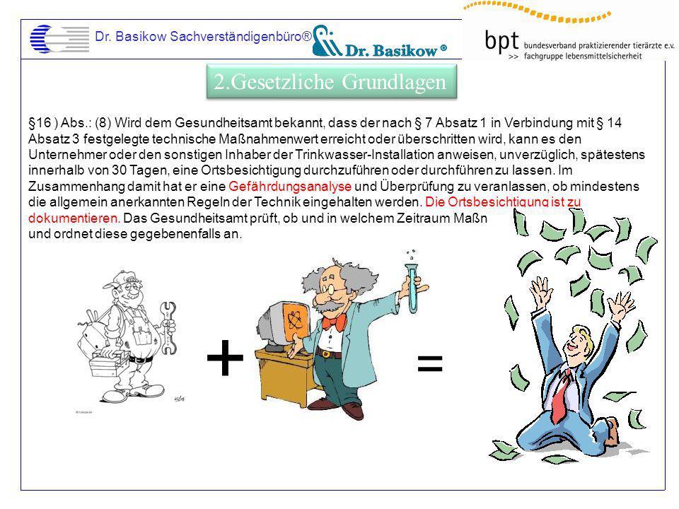 Dr. Basikow Sachverständigenbüro® §16 ) Abs.: (8) Wird dem Gesundheitsamt bekannt, dass der nach § 7 Absatz 1 in Verbindung mit § 14 Absatz 3 festgele