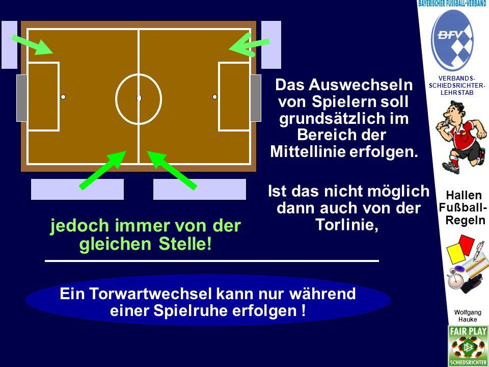 Hallen Fußball- Regeln Wolfgang Hauke VERBANDS- SCHIEDSRICHTER- LEHRSTAB Wolfgang Hauke SR Wechsel- Fehler.