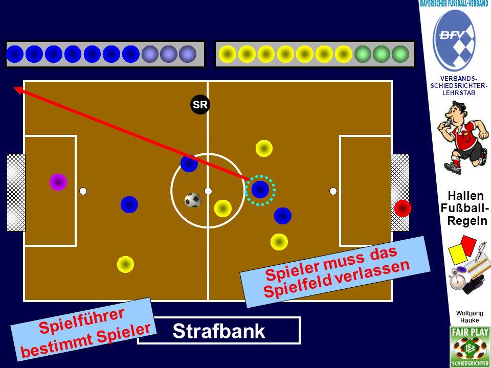 Hallen Fußball- Regeln Wolfgang Hauke VERBANDS- SCHIEDSRICHTER- LEHRSTAB Wolfgang Hauke Turnier-Leitung / Zeitnahme SR X Spielfortsetzung.