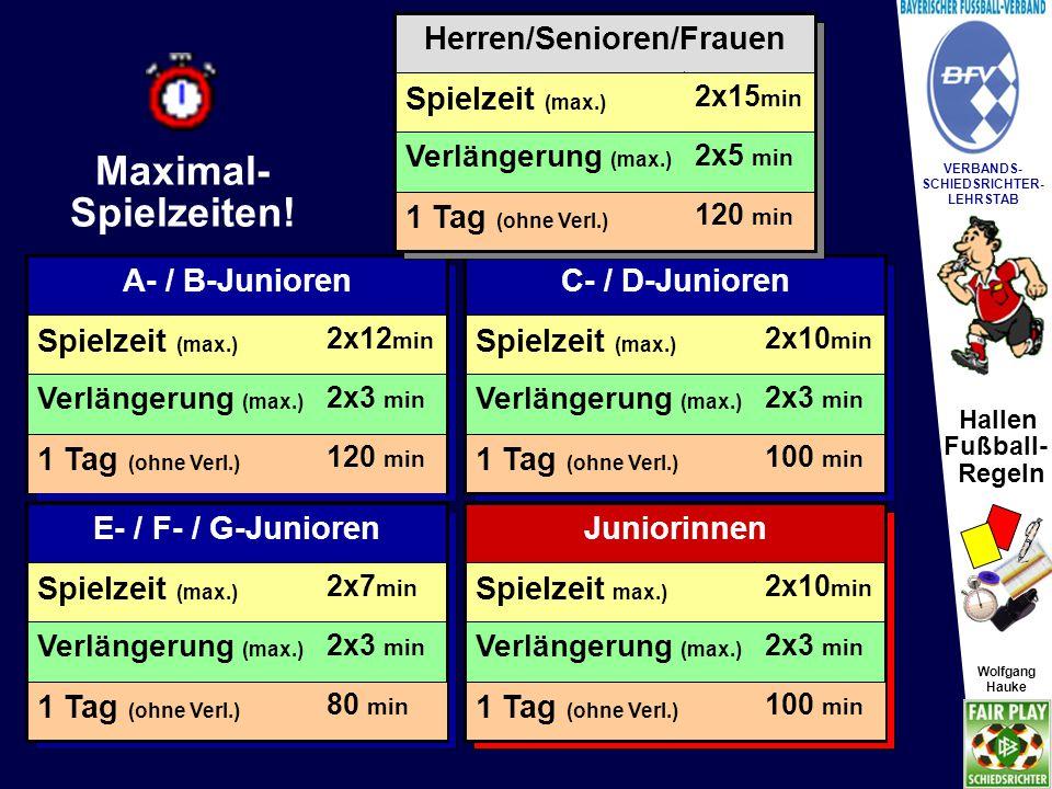 Hallen Fußball- Regeln Wolfgang Hauke VERBANDS- SCHIEDSRICHTER- LEHRSTAB Wolfgang Hauke §20 Spielbestimmungen SR Abseits kein Abseits.