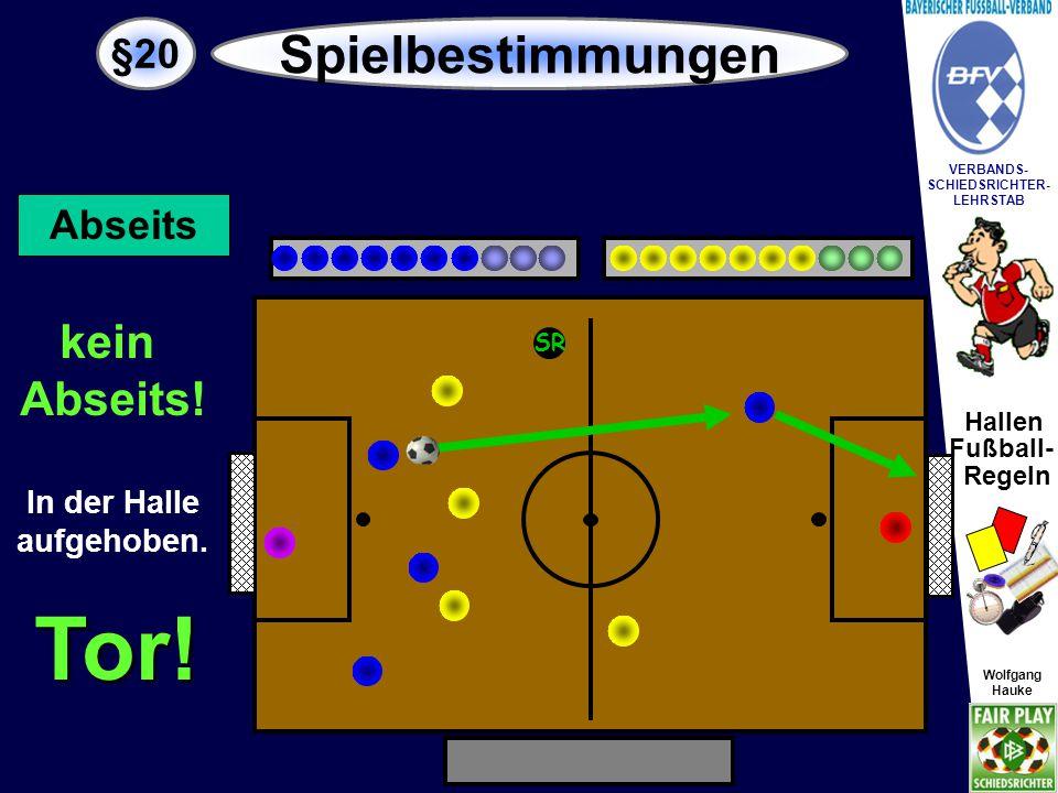 Hallen Fußball- Regeln Wolfgang Hauke VERBANDS- SCHIEDSRICHTER- LEHRSTAB Wolfgang Hauke §20 Spielbestimmungen SR Anstoß Kein Tor.