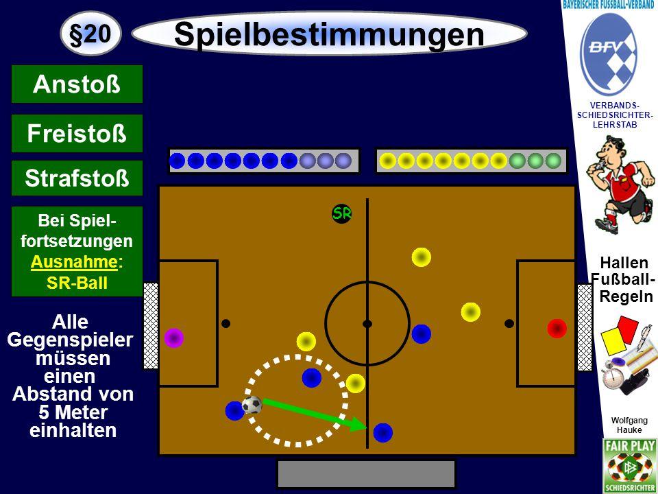 Hallen Fußball- Regeln Wolfgang Hauke VERBANDS- SCHIEDSRICHTER- LEHRSTAB Wolfgang Hauke §20 Spielbestimmungen SR Abschlag Abwurf...