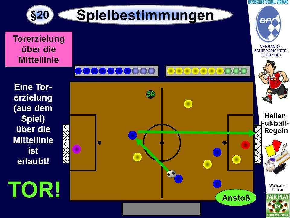 Hallen Fußball- Regeln Wolfgang Hauke VERBANDS- SCHIEDSRICHTER- LEHRSTAB Wolfgang Hauke §20 Spielbestimmungen SR Hand.