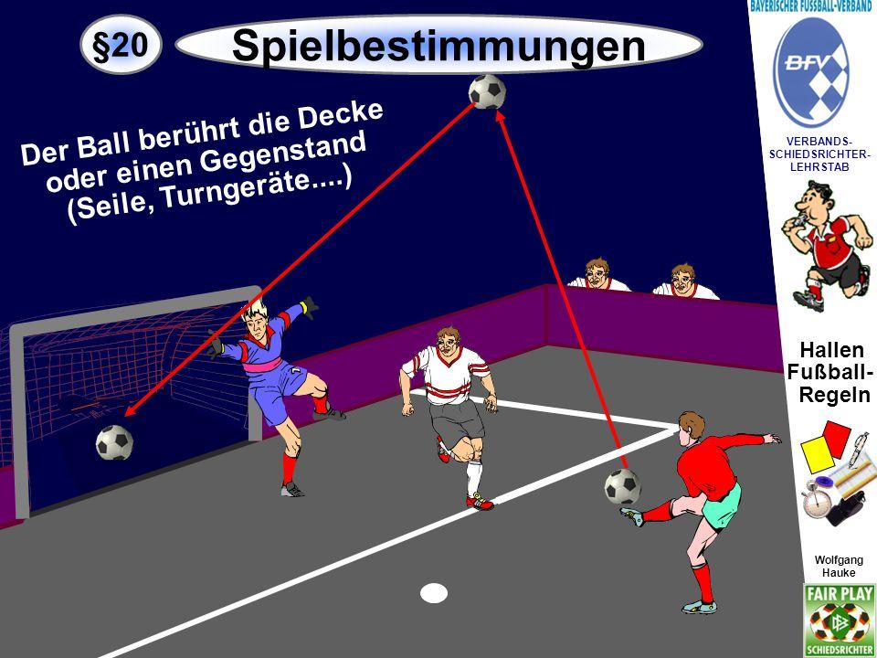 Hallen Fußball- Regeln Wolfgang Hauke VERBANDS- SCHIEDSRICHTER- LEHRSTAB Wolfgang Hauke §20 Spielbestimmungen Kein Tor.