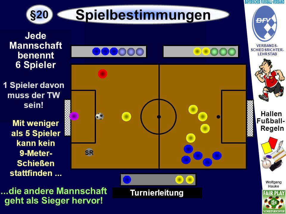 Hallen Fußball- Regeln Wolfgang Hauke VERBANDS- SCHIEDSRICHTER- LEHRSTAB Wolfgang Hauke (1) Alle Hallenspiele und -turniere sollen von geprüften Schiedsrichtern geleitet werden.