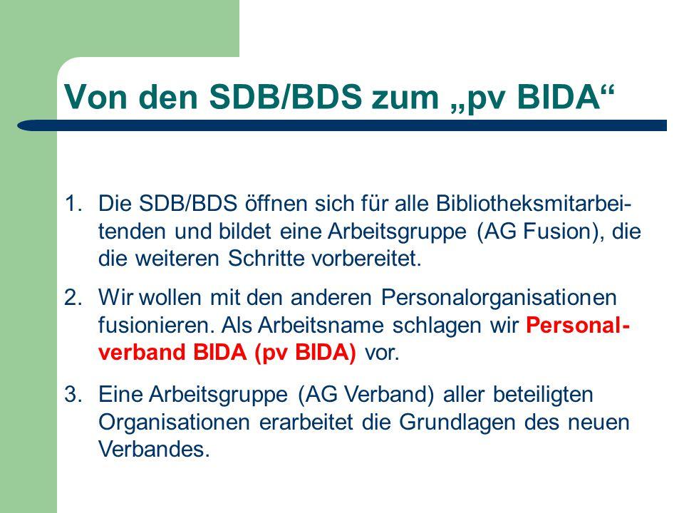 """Von den SDB/BDS zum """"pv BIDA 2.Wir wollen mit den anderen Personalorganisationen fusionieren."""
