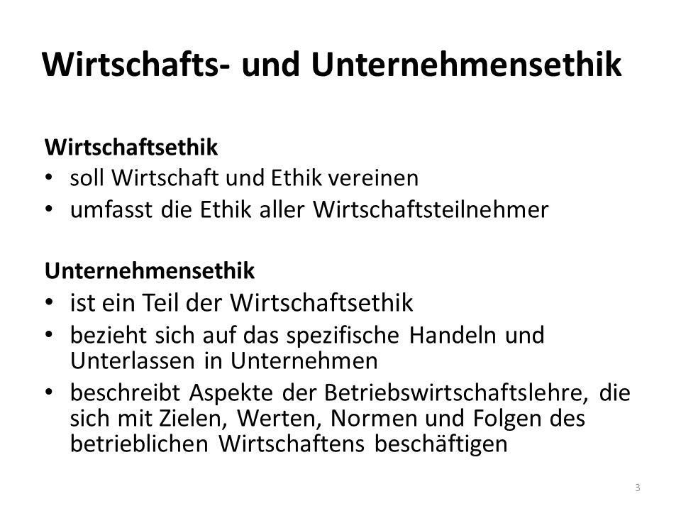 4 Wirtschafts- ethik Unternehmens- ethik Individualethik Oberste Ebene: Gesellschaft als Ganzes z.B.