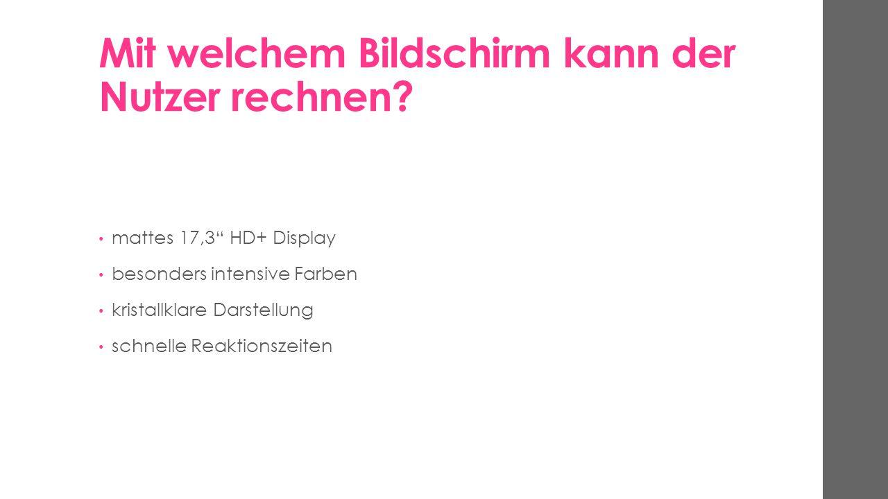 Wie erfolgt die Verbindung mit externen Geräten? 4 USB 3.0 Anschlüsse Multikartenleser HDMI Ausgang