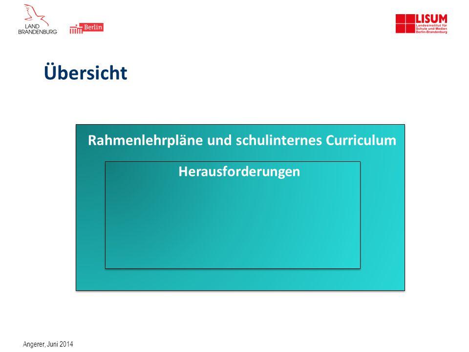 Der schulinterne Fachplan … ist ein Planungsinstrument, mit dem die Rahmenlehrpläne konkretisiert werden.