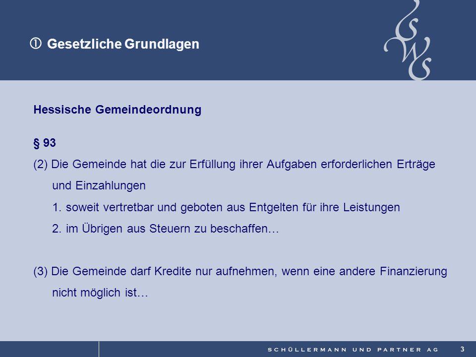 © 3 Hessische Gemeindeordnung § 93 (2)Die Gemeinde hat die zur Erfüllung ihrer Aufgaben erforderlichen Erträge und Einzahlungen 1.soweit vertretbar un