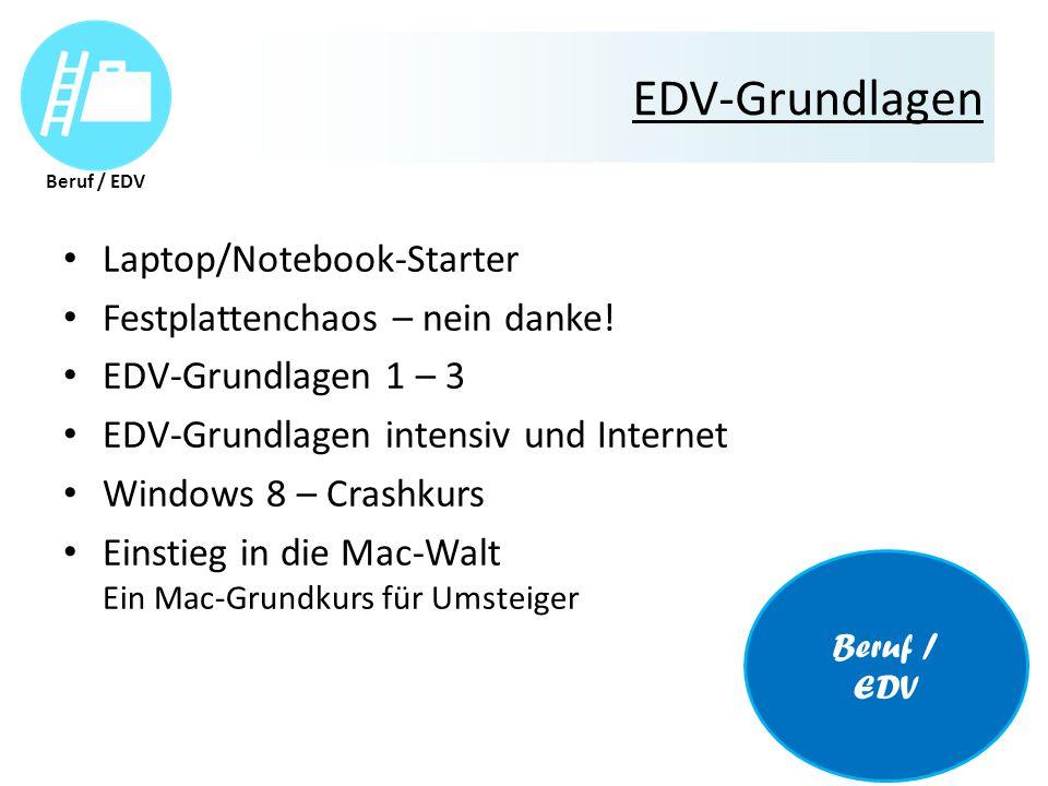 EDV-Grundlagen Laptop/Notebook-Starter Festplattenchaos – nein danke.