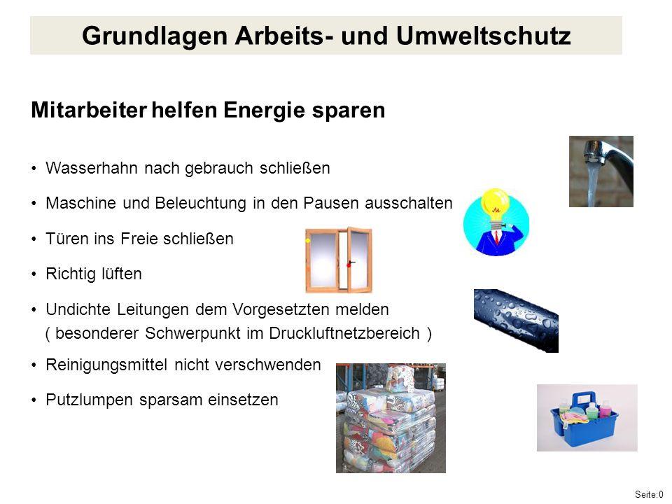 Seite:31 Grundlagen Arbeits- und Umweltschutz