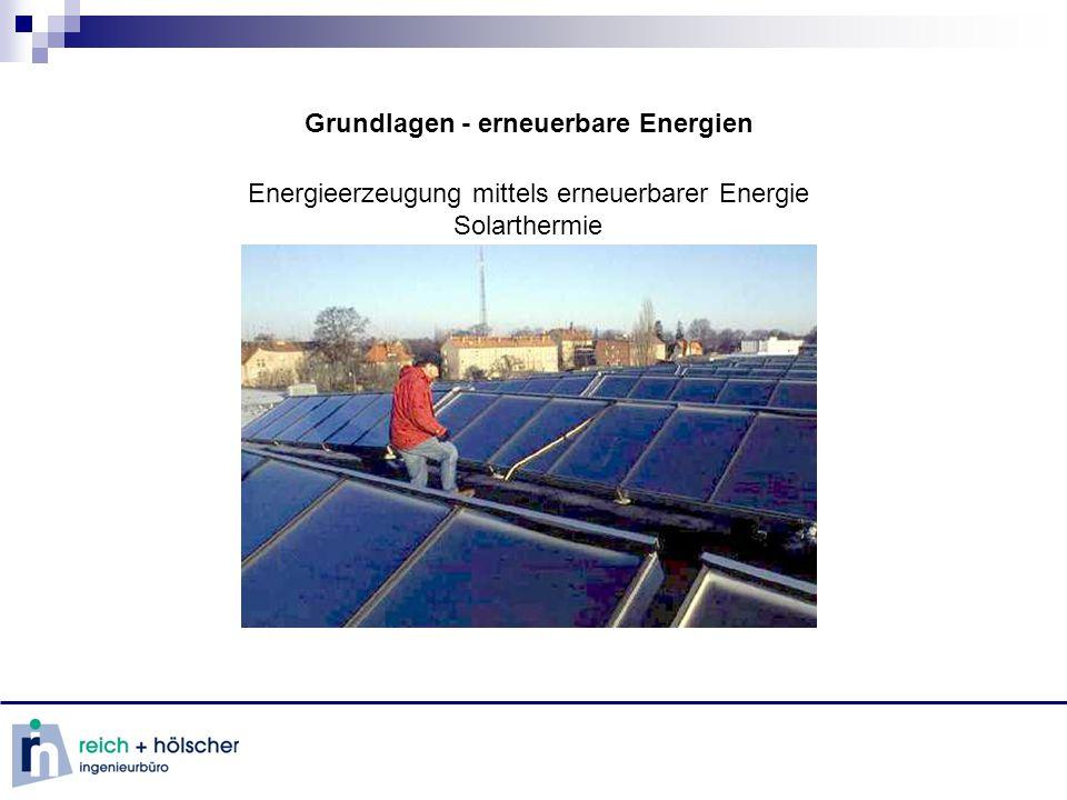 Grundlagen - erneuerbare Energien Energieerzeugung mittels erneuerbarer Energie Solarthermie