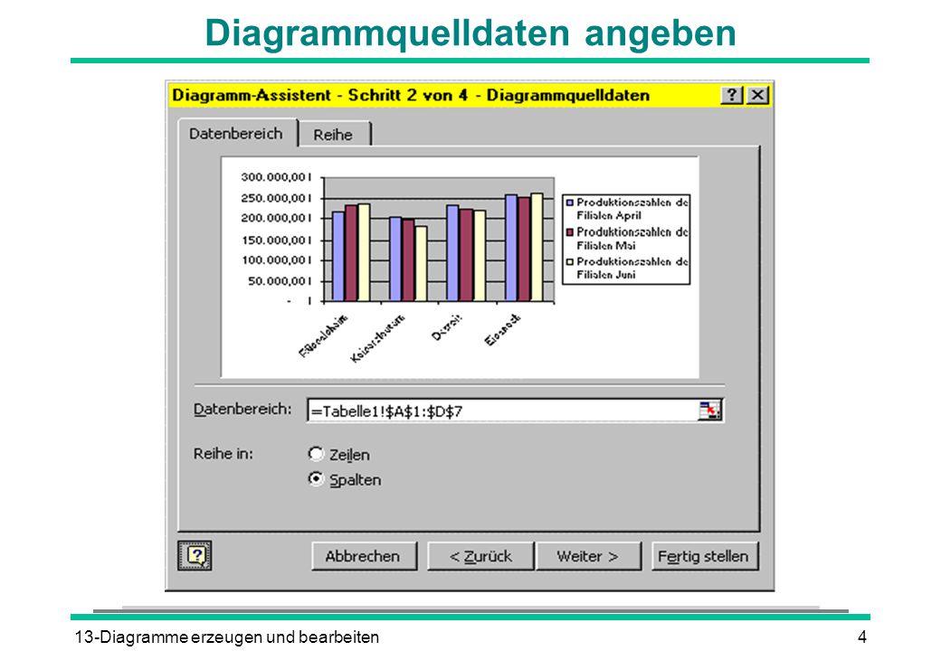 13-Diagramme erzeugen und bearbeiten4 Diagrammquelldaten angeben